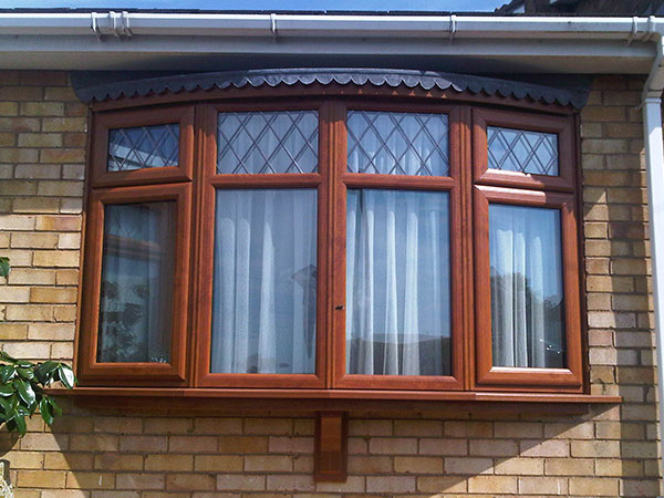 Double Glazing Bay-and-bow windows timber effect installed in Oxford by Isis Windows