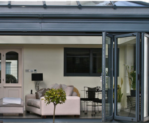 bi-fold doors opened fully, installed by Isis Windows in Bicester