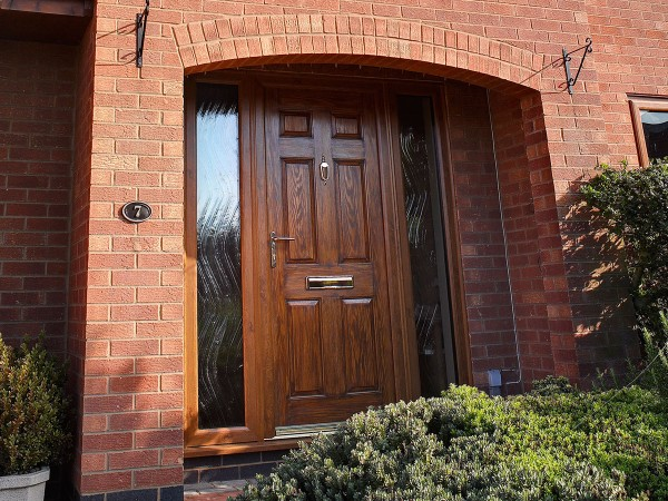 uPVC door, wood effect, installed by Isis Windows in Oxford