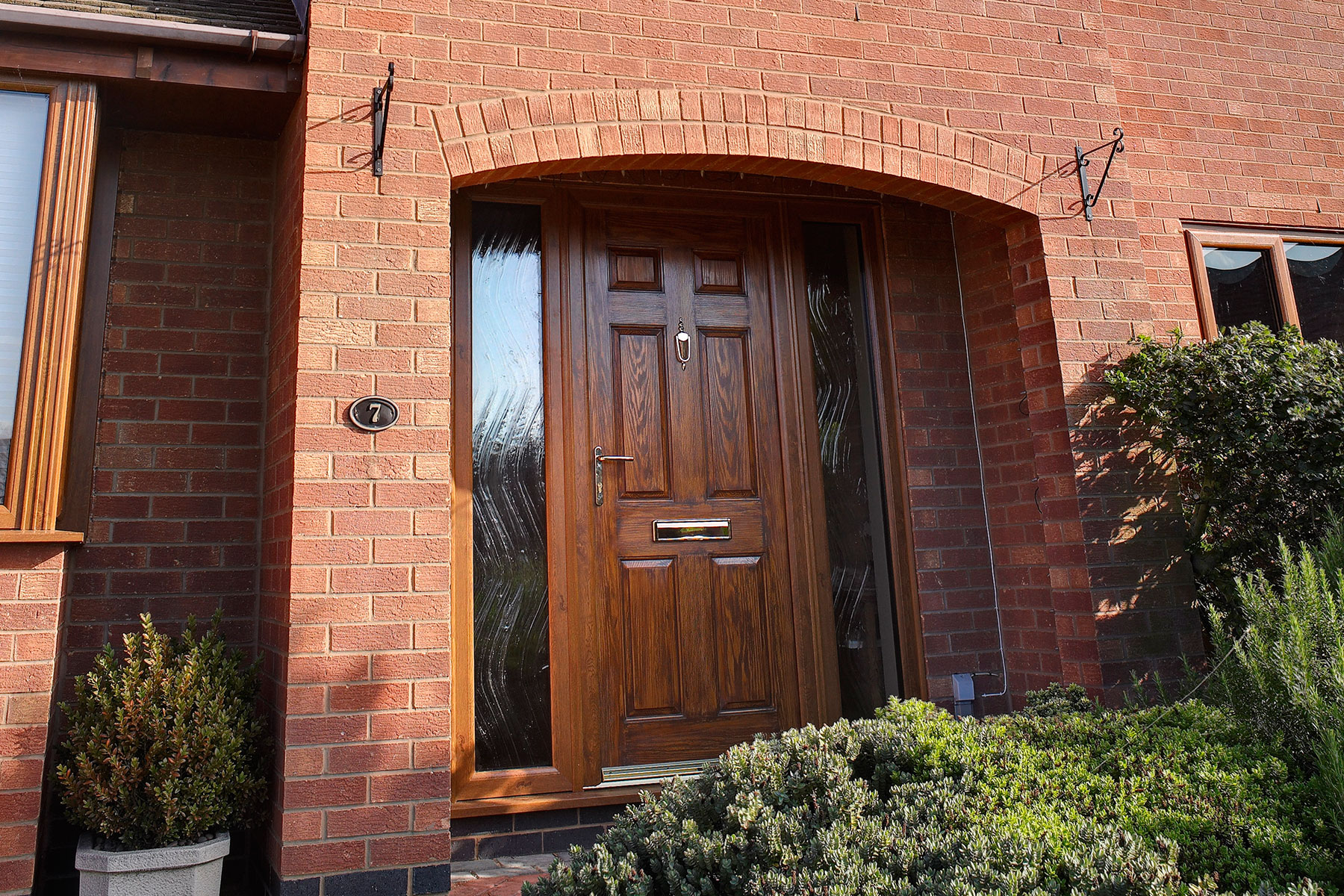 Timber front door installed in Oxford by Isis Windows