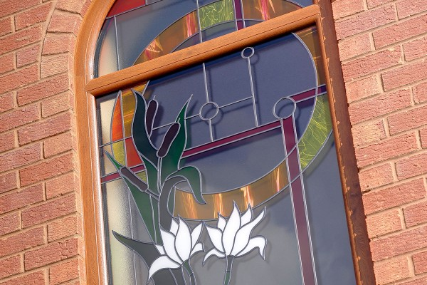 Stained Glass uPVC Double Glazing Window installed in Oxford by Isis Windows