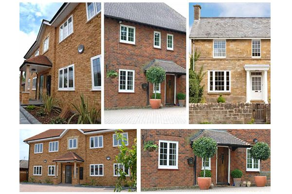 A selection of houses with Aluminium Double Glazing in Oxford, installed by Isis Windows