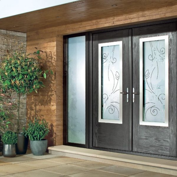 Black Composite Doors in Oxfordshire installed by Isis Windows