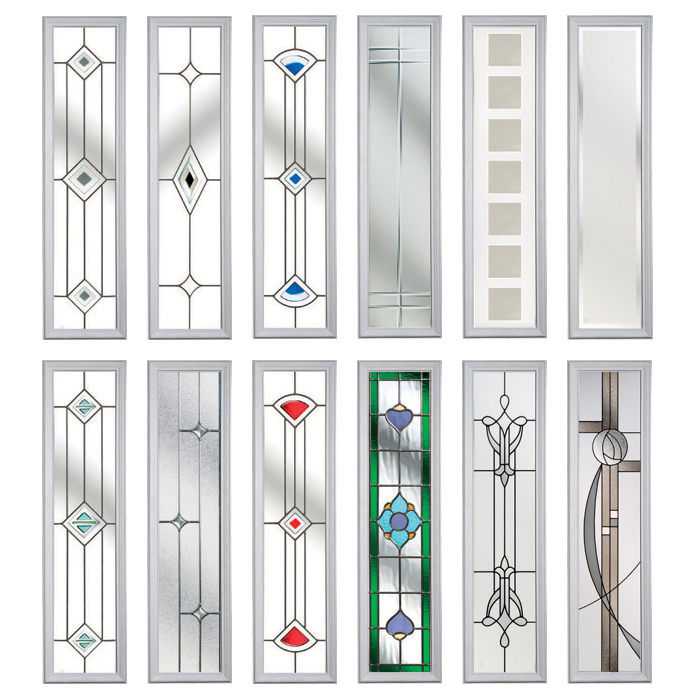 Composite doors Oxford, glass options from Solidor