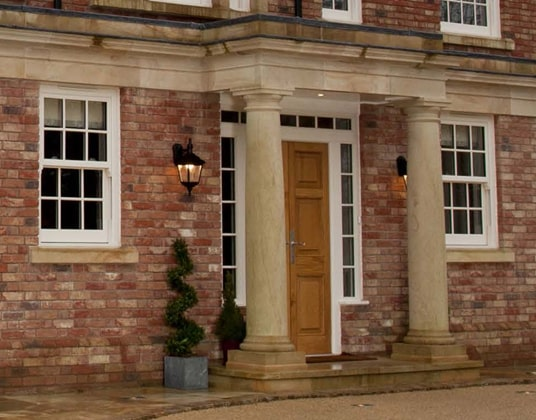 Sash windows on Oxfordshire Country House with Georgian Bars